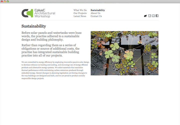 CplusC Web  Sustainability